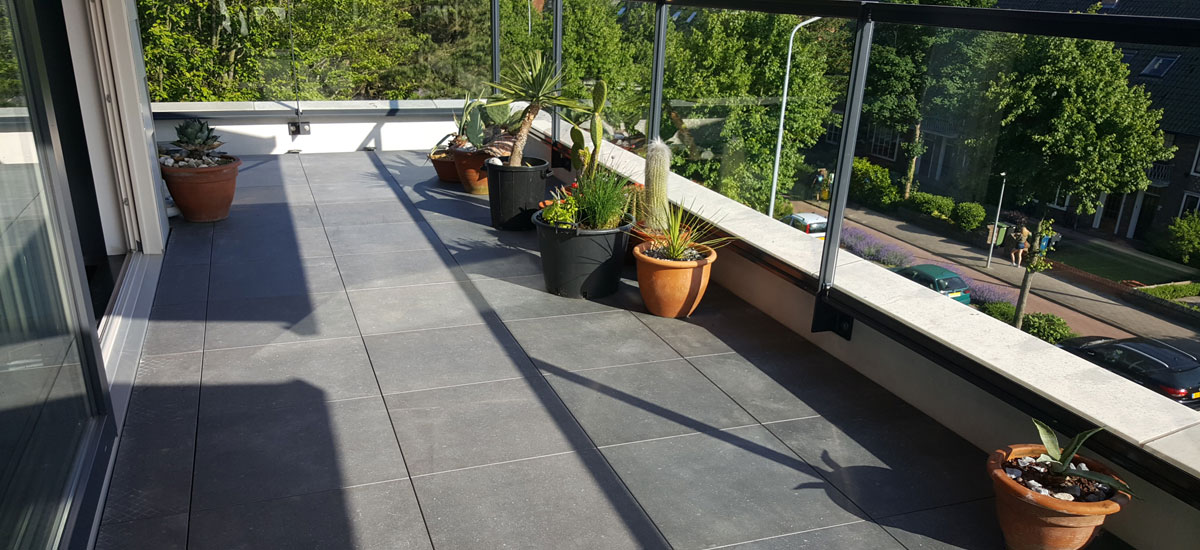 Vaak Terras en Balkon tegels   Verander Uw terras of balkon in een MN61