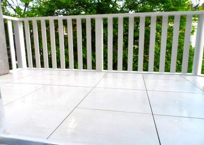 2,4 cm tegels Gigacer tegels ICE 60×60 cm balkon Amsterdam